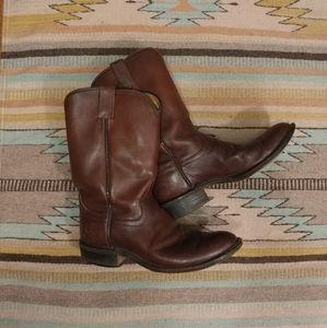 Vintage Justin leather cowboy boots, 7 1/2